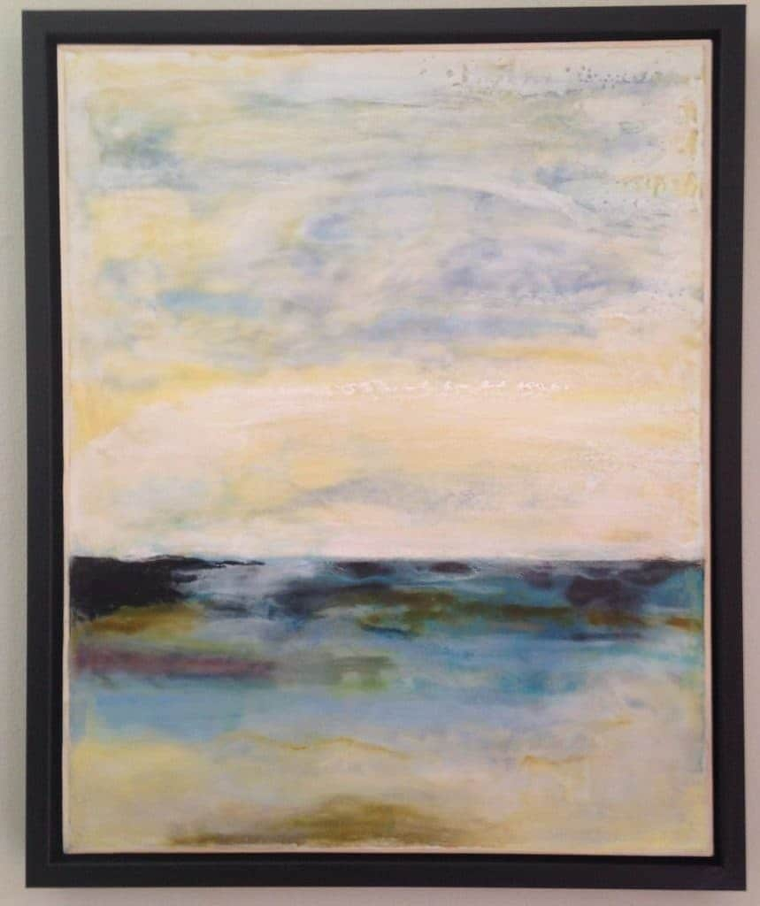 """NFS   New Horizon   Encaustic Painting   20"""" x 16"""" by Ruth Maude"""
