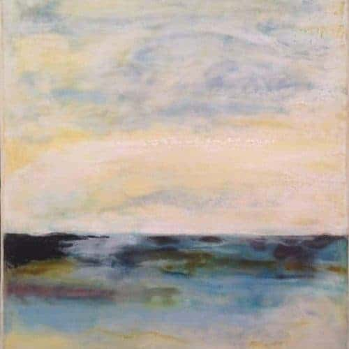 "NFS | New Horizon | Encaustic Painting | 20"" x 16"" by Ruth Maude"