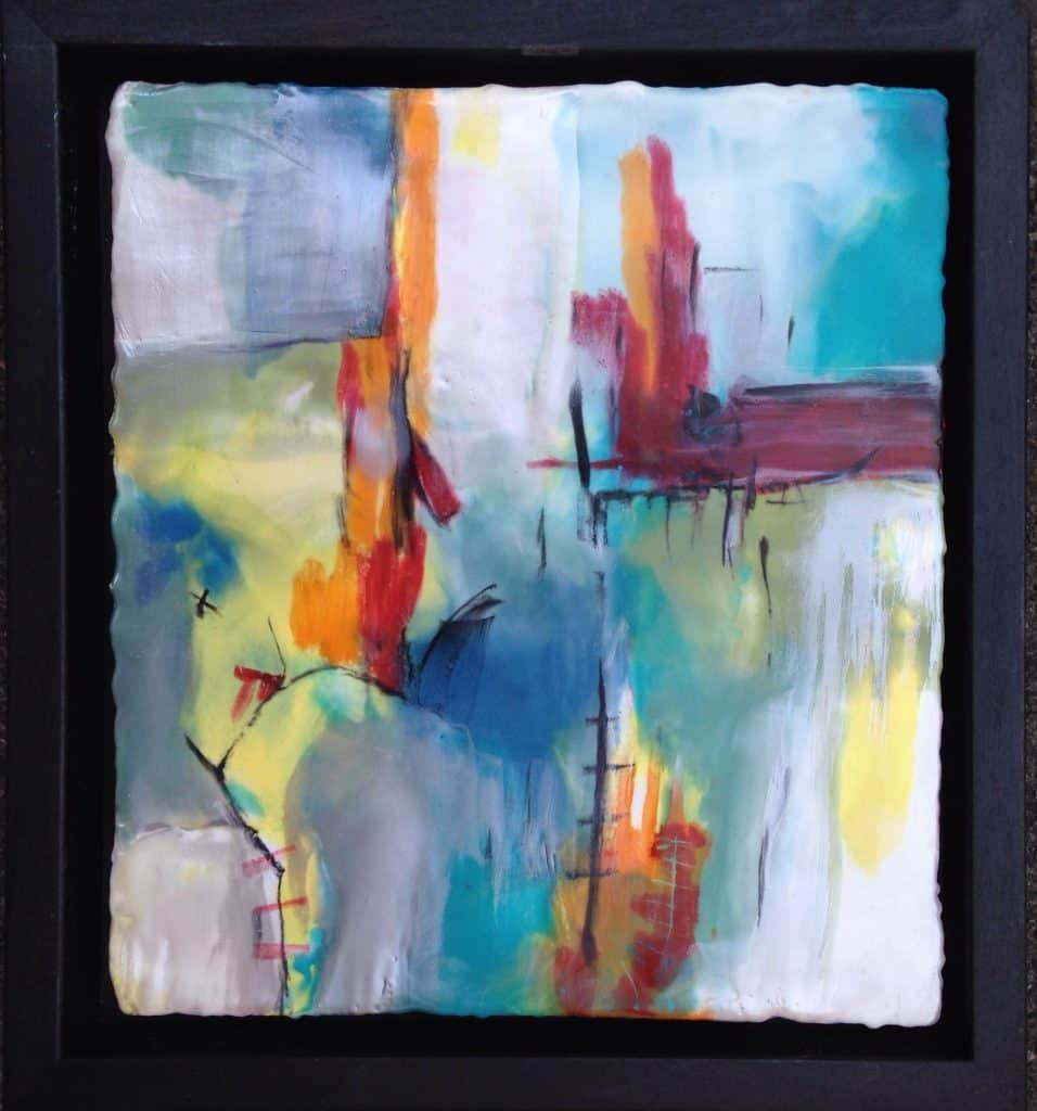 """SOLD   Good morning   Encaustic Mixed Medial   9"""" x 10"""" by Ruth Maude"""