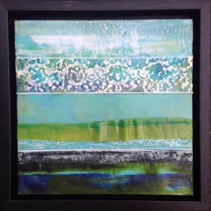"No Ordinary Day | Encaustic | 10 "" x 10"" by Ruth Maude"