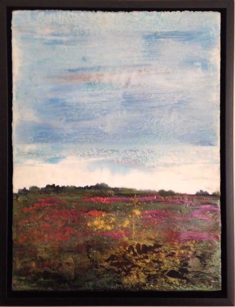 """SOLD   One enormous dream   Encaustic Mixed Media   16""""x12"""" by Ruth Maude"""