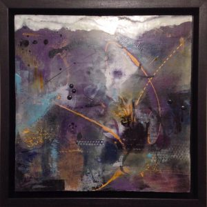 "Fire and Ice | Encaustic Mixed Media | 12""x12"" 