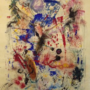 "SOLD | Beatrix Blue | Encaustic on Fukunishi Japanese Paper | 19"" x 13""by Ruth Maude"