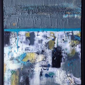 "Hand-me-down dreams | Encaustic | 20"" x 16"" 