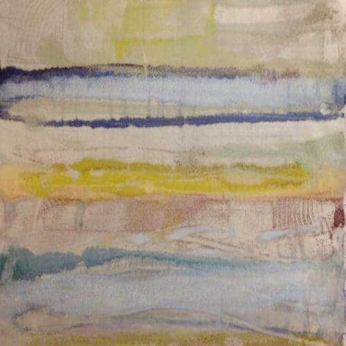 "Latitude #2 | Encaustic on Oguni Snowbleached Kozo Japanese Paper | 10"" x 13.5"" by Ruth Maude $100 (unframed)"