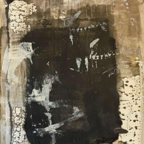 "Wabi-Sabi | Encaustic on Rives BFK | 26"" x 19"" by Ruth Maude"